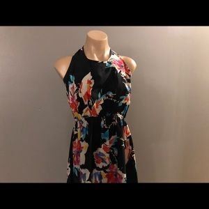 Floral Dress with HighLow Effect